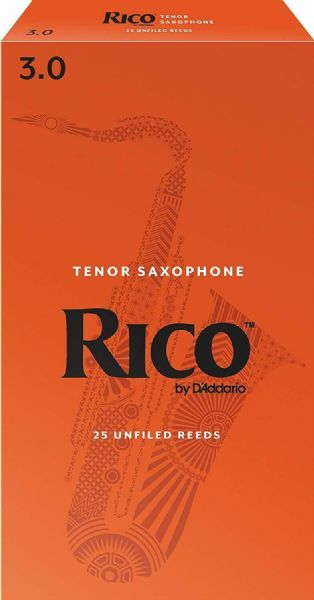 Rico 3.0 Strength Reeds for Tenor Sax (Pack of 25) - RKA2530